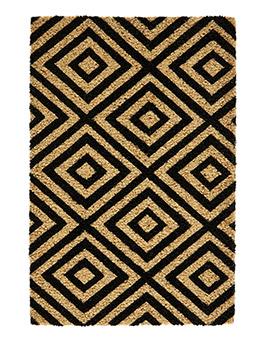 Tapis paillasson HYPNO, motif géométrique