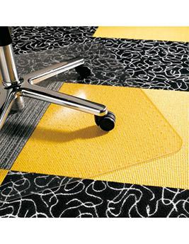 Plaque de protection des sols, polycarbonate, avec picots pour moquette, 120x91 cm