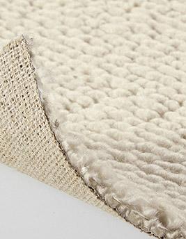 Moquette bouclée MALTA en laine, col écru, rouleau 4 m