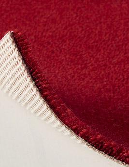 Moquette velours ANCY en laine, col rouge cuivré, rouleau 5 m