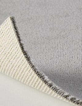 Moquette velours ANCY en laine, col gris moyen, rouleau 4 m