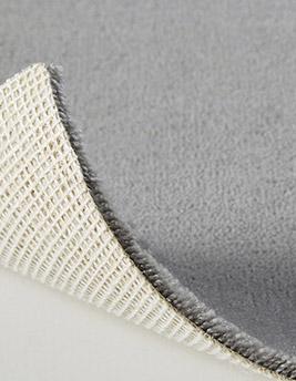 Moquette velours ANCY en laine, col gris souris, rouleau 4 m