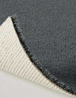 Moquette velours ANCY en laine, col gris silex, rouleau 4 m