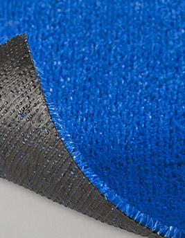 Gazon synthétique CYAN, col bleu, épaisseur 7 mm, rouleau larg 4 m