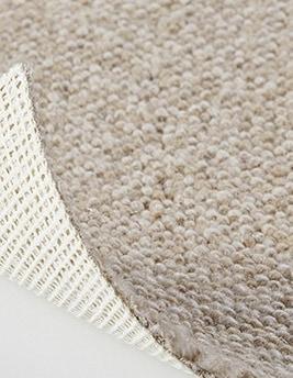 Moquette bouclée LONDON en laine, col beige, rouleau 4 m