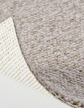 Moquette bouclée LONDON en laine, col greige, rouleau 4 m