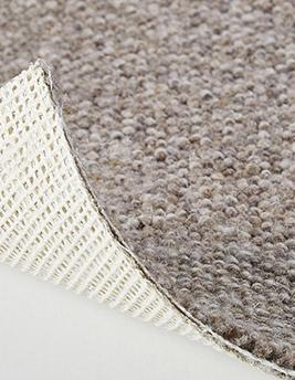 Moquette bouclée LONDON en laine, col greige, rouleau 5 m