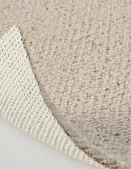 Moquette bouclée TANGER en laine, coloris lin, rouleau 4 m