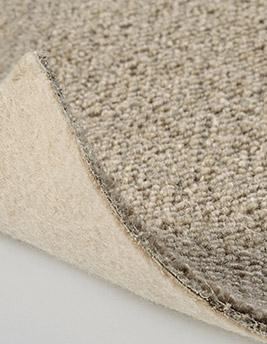 Moquette bouclée TANGER en laine, col beige, rouleau 5 m