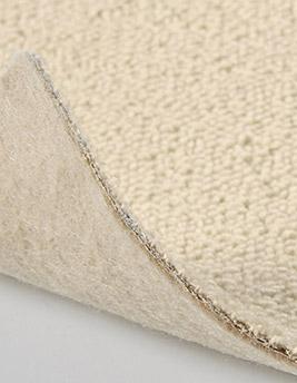 Moquette bouclée TANGER en laine, coloris craie, rouleau 5 m