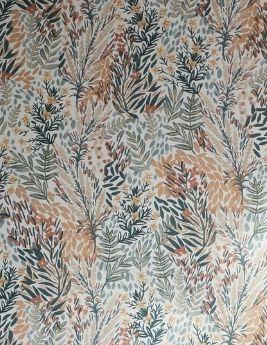 Papier peint LUCY, vinyle sur intissé, motif floral, vert
