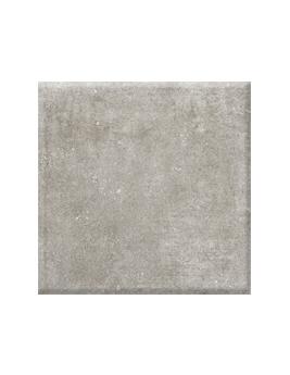 Carrelage TOZETO, aspect pierre gris clair, dim 61 x 61 cm
