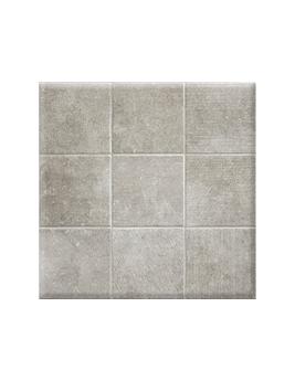 Carrelage TOZETO, aspect pierre gris clair, dim 61,5 x 61,5 cm