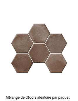 Carrelage BETON DECOR, aspect béton gris clair, dim 18,2 x 21 cm