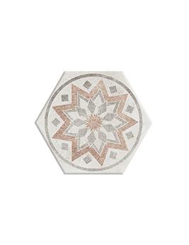 Carrelage BETON DECOR, aspect carreau ciment colorés, dim 18,2 x 21 cm