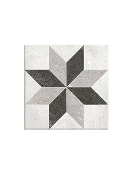 Carrelage EPOQUE, aspect carreau ciment gris clair, dim 20 x 20 cm