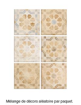 Carrelage LAVERTON DECOR, aspect terre cuite décor, dim 30 x 30 cm