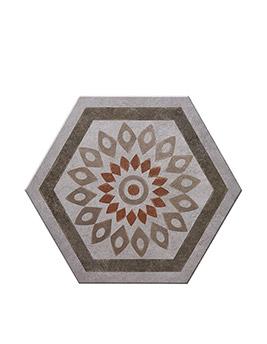 Carrelage INTIMEDECO, aspect carreau ciment décor, dim 35 x 40 cm