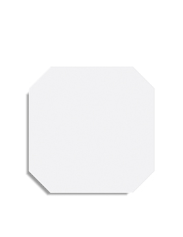 Carrelage ALASKA OCTOGONO, aspect unis-Couleurs blanc, dim 31,6 x 31,6 cm