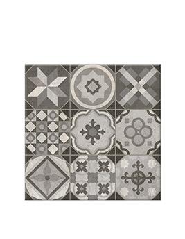 Carrelage 9DECORS 1D, aspect carreau ciment décor, dim 31,6 x 31,6 cm