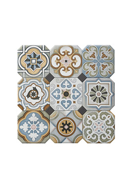 Carrelage ALL OVER, aspect carreau ciment décor, dim 20 x 20 cm