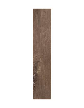Carrelage TRENTO, aspect bois marron, dim 20 x 120 cm