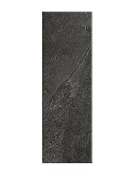 Carrelage ROCHE, aspect pierre gris foncé, dim 10 x 30 cm
