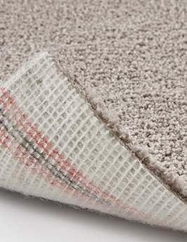 Moquette Saxony PUNCH, col Taupe clair, Rouleau 4 m