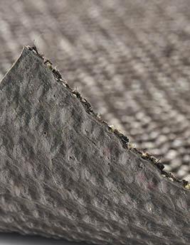 Sisal sisal KIVU, col noir, rouleau 4 m