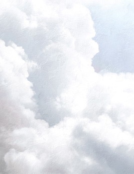 Panoramique NUAGE, 100% intissé effet nuage, bleu clair