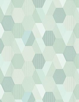 Papier peint TEYSSIR, vinyle sur intissé motif géométrique, vert