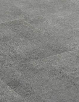 Revêtement minéral composite CERAMIN TILES SJ, béton gris loup, dalle 31,5 x 62,5 cm