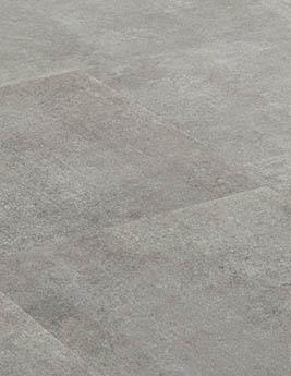 Revêtement minéral composite CERAMIN TILES SJ, béton gris pierre, dalle 31,5 x 62,5 cm