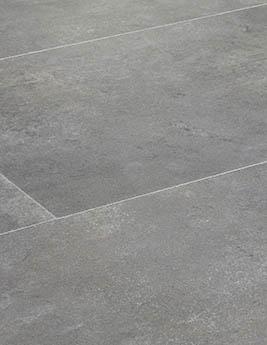 Revêtement minéral composite CERAMIN TILES SJ, béton gris loup, dalle 39,2 x 118 cm