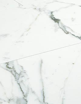 Revêtement minéral composite CERAMIN TILES SJ, marbre blanc, dalle 39,2 x 118 cm