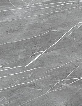 Revêtement minéral composite CERAMIN TILES SJ, marbre gris clair, dalle 39,2 x 118 cm