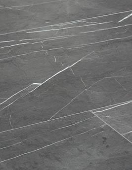 Revêtement minéral composite CERAMIN TILES SJ, marbre gris foncé, dalle 39,2 x 118 cm