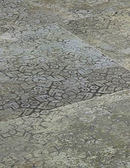 Revêtement minéral composite CERAMIN TILES SJ, oxide, dalle 39,2 x 118 cm