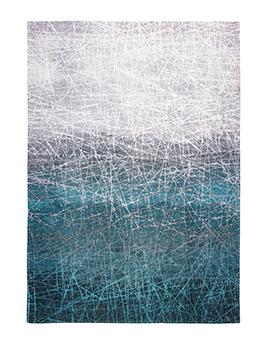 Tapis Louis De Poortere FAHRENHEIT, motif Bleu
