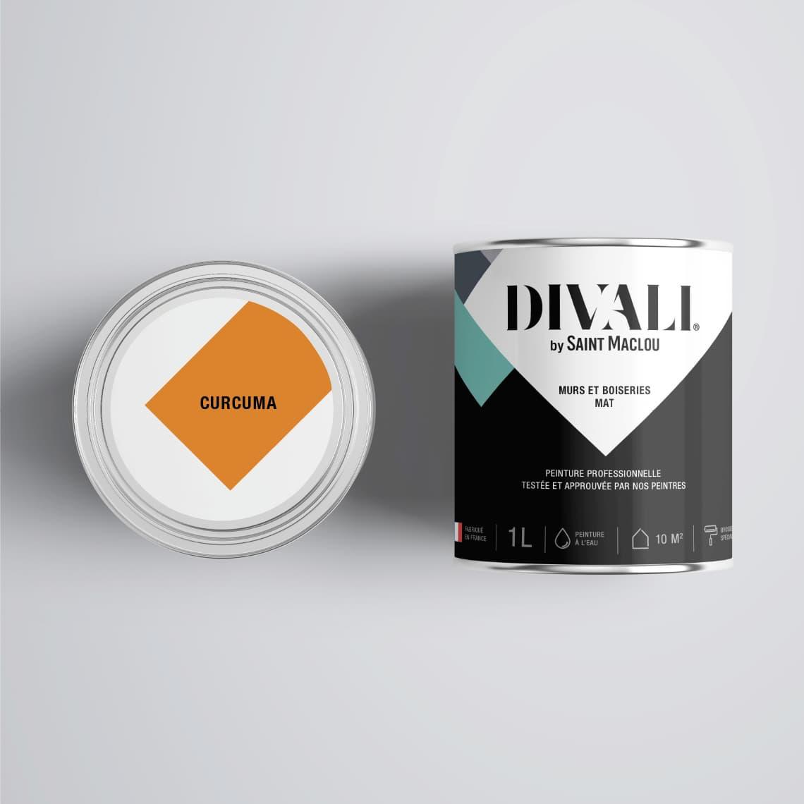 Peinture DIVALI CURCUMA Murs & Boiseries mat | Saint Maclou