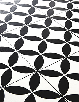 Sol vinyle BUBBLEGUM, carreau ciment noir, rouleau 2 m