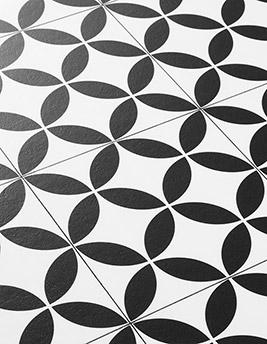 Sol vinyle BUBBLEGUM, carreau ciment noir, rouleau 4 m