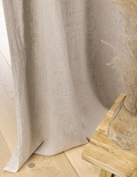 Rideau sur-mesure à partir du tissu LIN LAVE, 100% lin, naturel