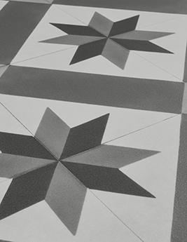 Sol vinyle TEXLINE, aspect carreau de ciment gris, rouleau 2 m
