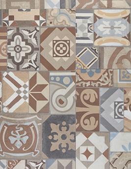 Sol vinyle Trendtime 5.50, motif carreau de ciment, dalle 39,6 x 90,4 cm