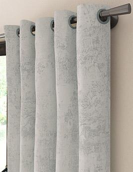 Rideau sur-mesure à partir du tissu CARRARE, jacquard, gris