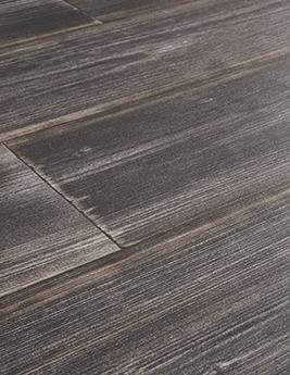 Sol vinyle TEXLINE, aspect bois pin vielli gris foncé, rouleau 3 m