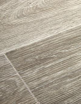 Sol vinyle TEXLINE, chêne cérusé blanchi, rouleau 4 m