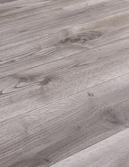 Sol vinyle TEXLINE, aspect bois gris, rouleau 4 m
