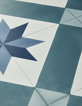 Sol vinyle TEXLINE, aspect carreau de ciment, rouleau 4 m